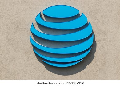 Fort Wayne - Circa August 2018: New AT&T logo after the purchase of TimeWarner. AT&T now offers IPTV, VoIP, HBO, Cell Phones and DirecTV