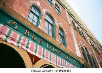 Fort Wayne, Indiana - August 10 2018: B&B Loan on a historic building.
