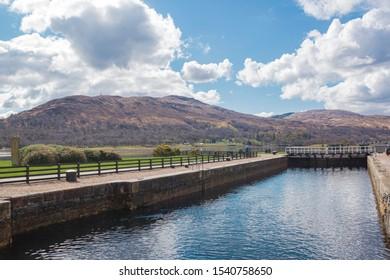 Fort William Caledonian Canal. Highland Scotland.