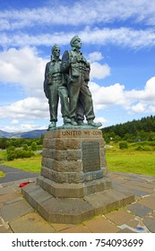 FORT WILLIAM, SCOTLAND - AUGUST 13, 2017: The Commando Memorial - This area is dedicated to the memory of all Comandos who gave their lives in the service of his country during the 1939-1945 War.