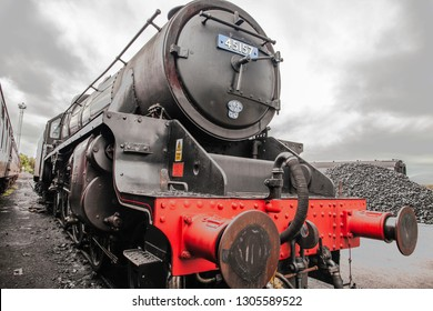 Fort William, Scotland -  October 1 2018: The Steam Train (detail)