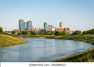 Fort Worth skyline and the Trinity River.