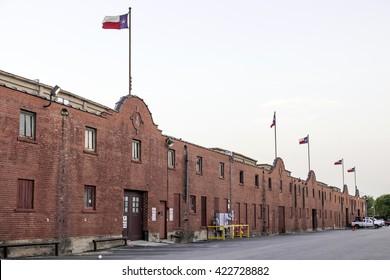Edificios históricos del Fort Worth Stockyards. Texas, Estados Unidos