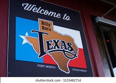Fort Worth, Texas - September 26 2019: Billy Bob's honkytonk dance hall welcome