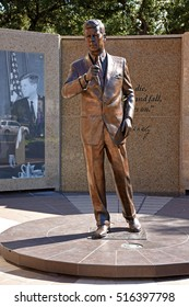 FORT WORTH, TEXAS, USA - September 16,2016: Tribute to John F. Kennedy is located at 916 Main Street, in Fort Worth, Texas. John F. Kennedy was killed in Dallas in November 22, 1963.