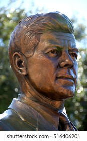 FORT WORTH, TEXAS, USA - September 16,2016: Tribute to John F. Kennedy is located at 916 Main Street, in Fort Worth, Texas. John F. Kennedy was killed in Dallas in November 22, 1963
