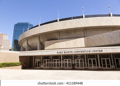 FORT WORTH, TX, USA - APR 6, 2016: Convention Center building in the city of Fort Worth. Texas, United States