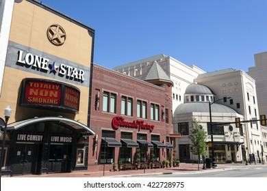 FORT WORTH, USA - APR 6, 2016: The Palace Theater Block buildings downtown in Fort Worth. Texas, United States