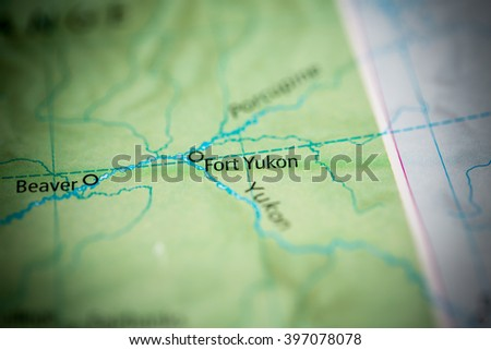 Fort Yukon Alaska Map.Fort Yukon Alaska Usa Stock Photo Edit Now 397078078 Shutterstock