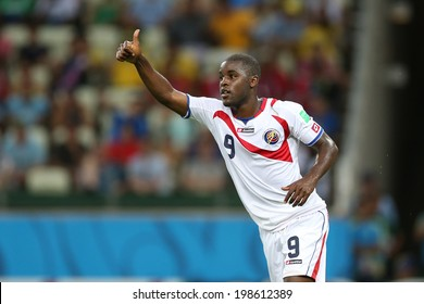 FORTALEZA, BRAZIL - June 14, 2014: Campbell of Costa Rica during the World Cup Group D game between Uruguay and Costa Rica at Castelao Stadium. No Use in Brazil.