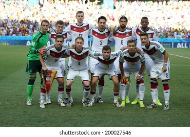 FORTALEZA, BRAZIL - June 21, 2014: Team Germany poses for a photo before the World Cup Group G game between Germany and Ghana at Estadio Castelao. No Use in Brazil.