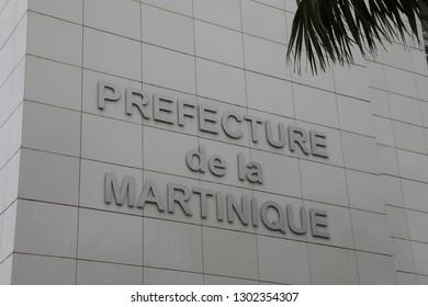 Fort-de-France / Martinique - April 17 2018: Prefecture of Martinique / French Government Building on Martinique in the Caribbean