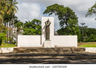 Fort-de-France, Martinique - December 19, 2016: The memorial to the citizens from Martinique who died fighting for France is located in La Savane Park in Fort-de-France, France's Caribbean.