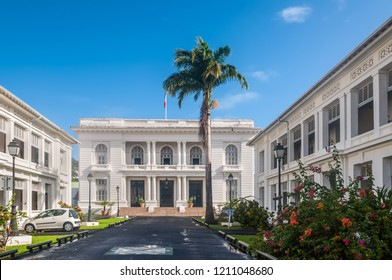 Fort-de-France, Martinique - December 19, 2016: Prefecture of Martinique in Fort-de-France, Martinique, Caribbean. Martinique is an insular region of France.