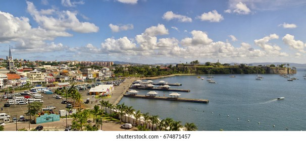 FORT-DE-FRANCE, MARTINIQUE - JANUARY 9, 2017 - The cityscope view of Fort de France on January 9, 2017. Fort de France is the capital of Martinique island, Lesser Antilles