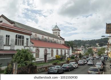 Fort-de-France on December 4, 2017 Martinique island French Antilles Caribbean sea