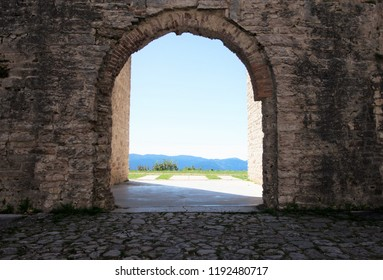 Forte Interrotto dominates the asiago plateau, in province of Vicenza, nothern Italy.