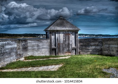 Fortess of Louisburg, Cape Breton, Nova Scotia is a National Historic Site of Canada.  The fortress is in reconstruction as it was in the 18th century. Two sieges in 1758 made Canada what it is today.