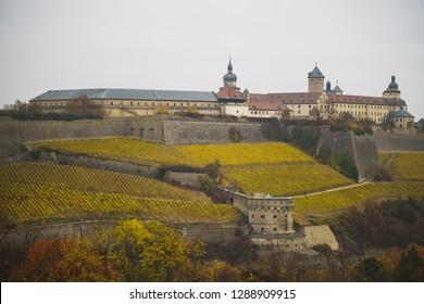 Fortess Marienberg with Maschikulitower in Würzburg