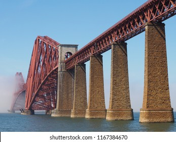 Forth Bridge, cantilever railway bridge across the Firth of Forth built in 1882 in Edinburgh, UK