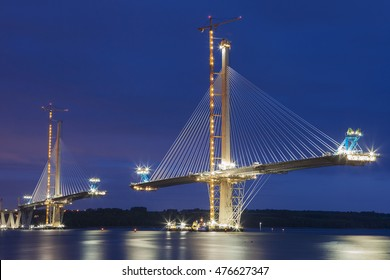 Forth Bridge Queensferry Crossing under construction.