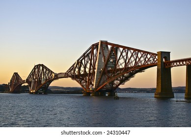 The Forth Bridge, taken from South Queensferry near Edinburgh, Scotland.