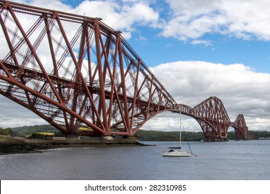 Forth Bridge view from North Queensferry, Edinburgh, Scotland.