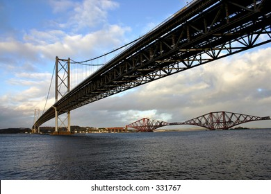 The Forth Bridges. The Forth Road and Rail Bridges Scotland