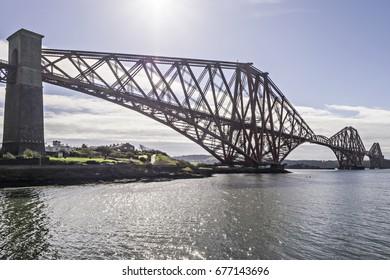 The Forth Rail Bridge, Firth of Forth, North Queensferry, Fife, Scotland