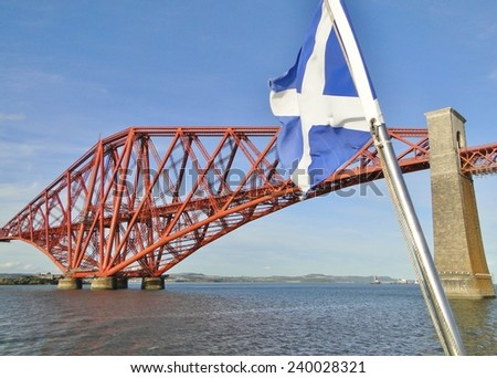 Forth Rail Bridge & Saltire