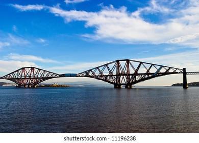 Forth Rail Bridge at South Queensferry Scotland
