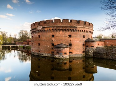 Fortification bastion tower Der Dohna turm. Now it's amber museum. Kaliningrad, Russia