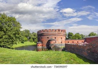Fortification bastion tower Der Dohna turm. Now it's amber museum. Kaliningrad, Russia.