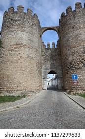 Fortification in Evora City. Alentejo. Portugal