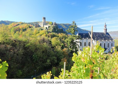 Fortification Metternich.  Beilstein ... the best place on the Moselle River (Mosel). Rhineland-Palatinate, Germany.