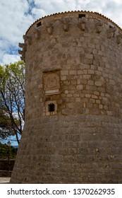 Fortifications of Krk town, capital of Krk island, Croatia