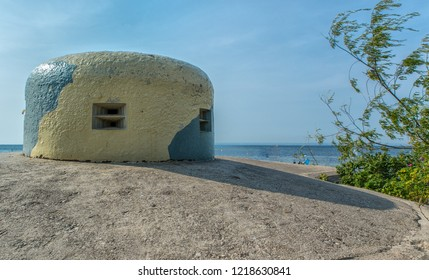 Fortifications near Jastarnia. Hel Peninsula. Poland