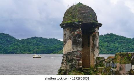Fortifications on the Caribbean sea in Portobelo, Panama