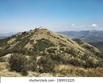 Fortifications on the Italian hills near Genoa