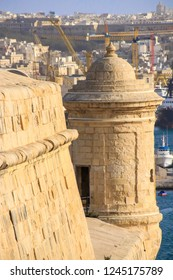 Fortifications of Valletta, View to Vittoriosa, Three Cities