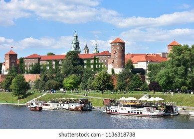 fortified architectural complex Wawel in Cracow,Polska