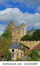 The fortified Chateau Montfort on the Dordogne River in France