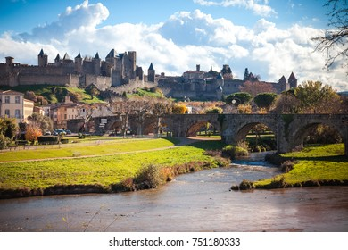 Fortified city of Carcassonne is a medieval citadel located in the French city of Carcassonne