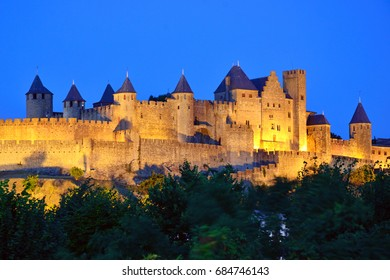 Fortified City Wall in Carcassonne,France