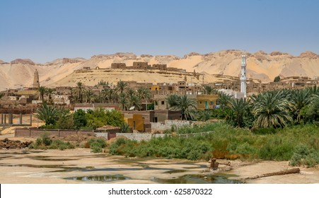 The fortified Islamic town of Al Qasr was built at Dakhla Oasis in the 12th century, Dakhla, Egypt