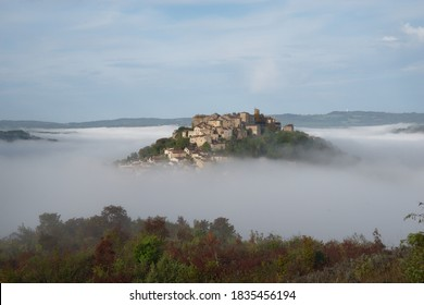 The fortified medieval town of Cordes sur Ciel in Occitanie