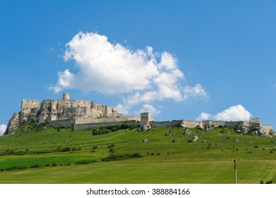 Fortified Spis castle near Spisske Podhradiein and Zehra in eastern Slovakia