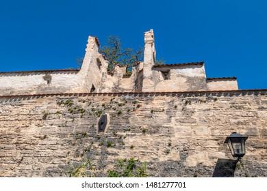 Fortified tower and remains of the city wall, Mittlerer Graben, Weilheim, Pfaffenwinkel, Upper Bavaria, Bavaria, Germany, Europe