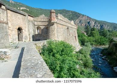 Fortified village of Villefranche-de-Conflent. Village of southern France fortified by architect Vauban.