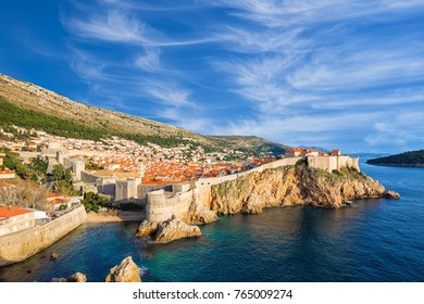 The fortress Bokar (or Zvjezdan) and the South-western part of Dubrovnik City walls. Croatia.